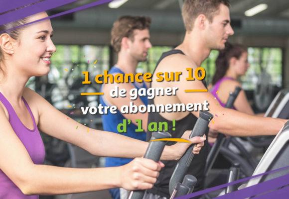1 chance sur 10 de gagner votre abonnement d'1 an dans votre salle St Jean Bonnefonds
